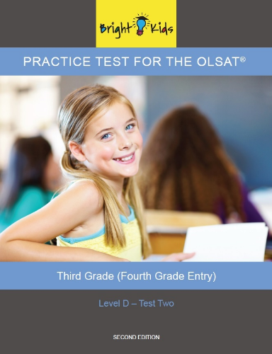 OLSAT Practice Test - Level D / Test Two (4th Grade Entry)