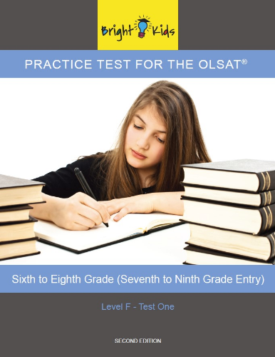 OLSAT Practice Test - Level F / Test One (6th - 8th Grade Entry)