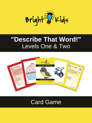 """Describe That Word!"" Levels 1 & 2 Card Game (Pre-K & Kindergarten)"