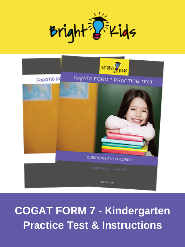 CogAT Form 7 Practice Test - Levels 5 & 6 (Kindergarten)