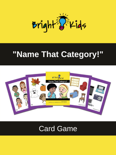 """Name That Category!"" Card Game (Pre-K & Kindergarten) book"