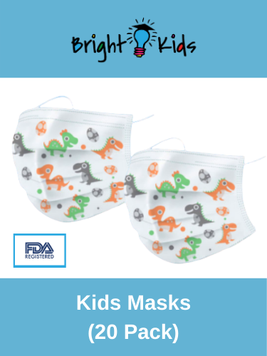 Disposable Individually wrapped masks (20 Pack) for youth