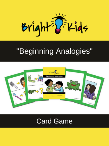 """Beginning Analogies"" Card Game (Pre-K & Kindergarten)"