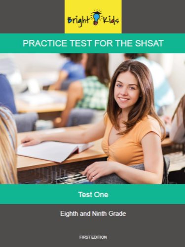 SHSAT 2016 Practice Test - Test One (7th & 8th Grade)