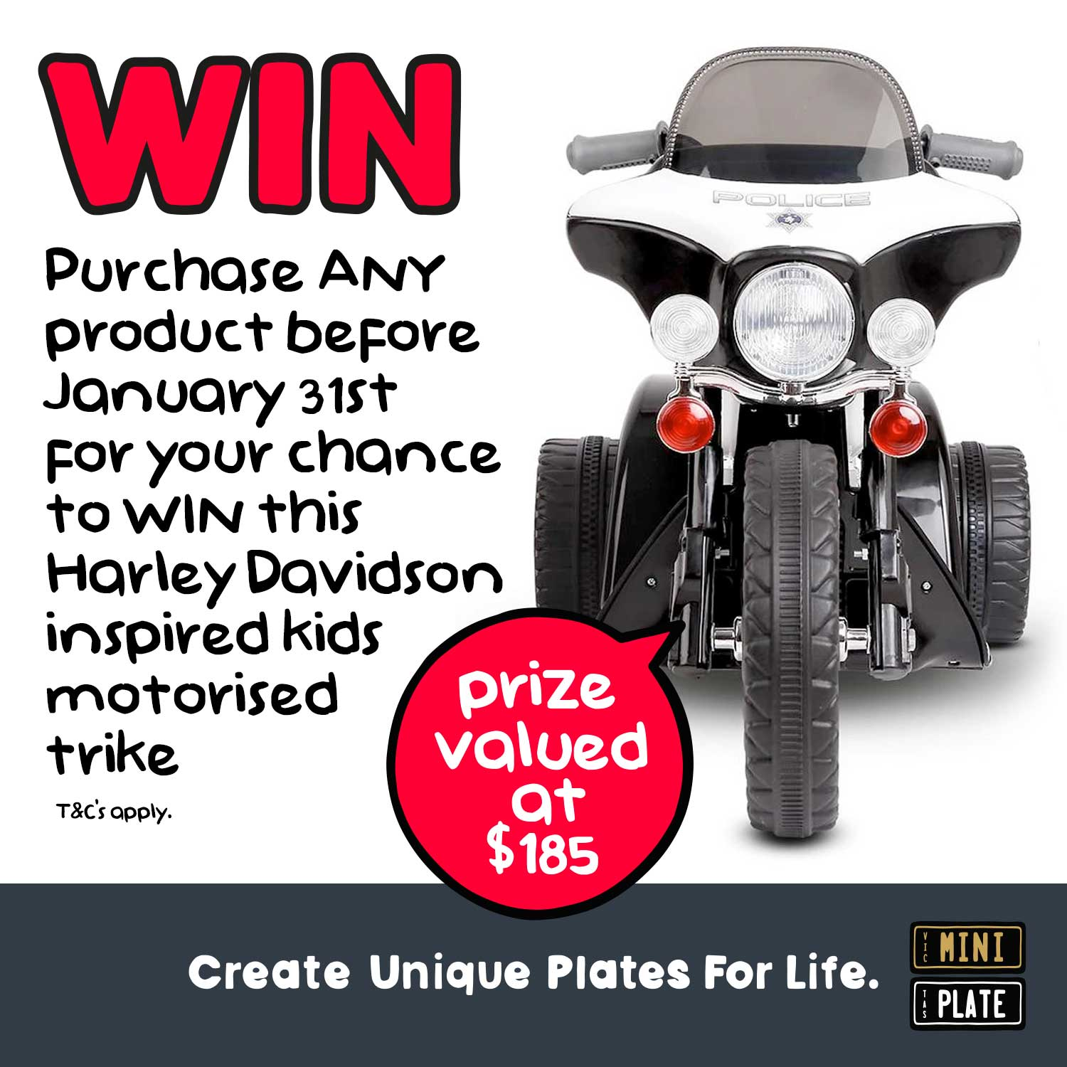 WIN A Harley Davidson inspired Kids Ride On Trike