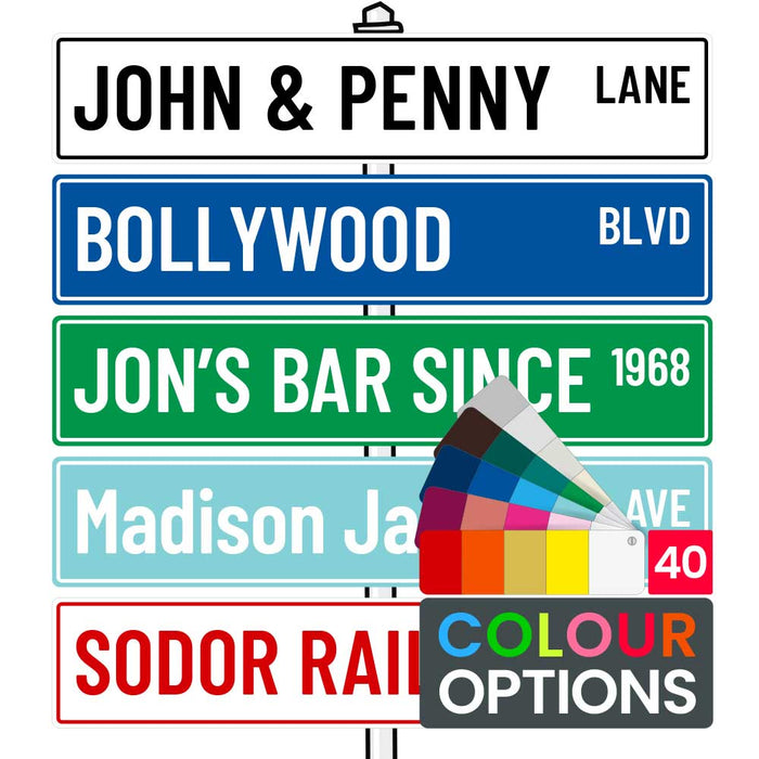 PVC Laser Etched Custom Personalised Street Sign