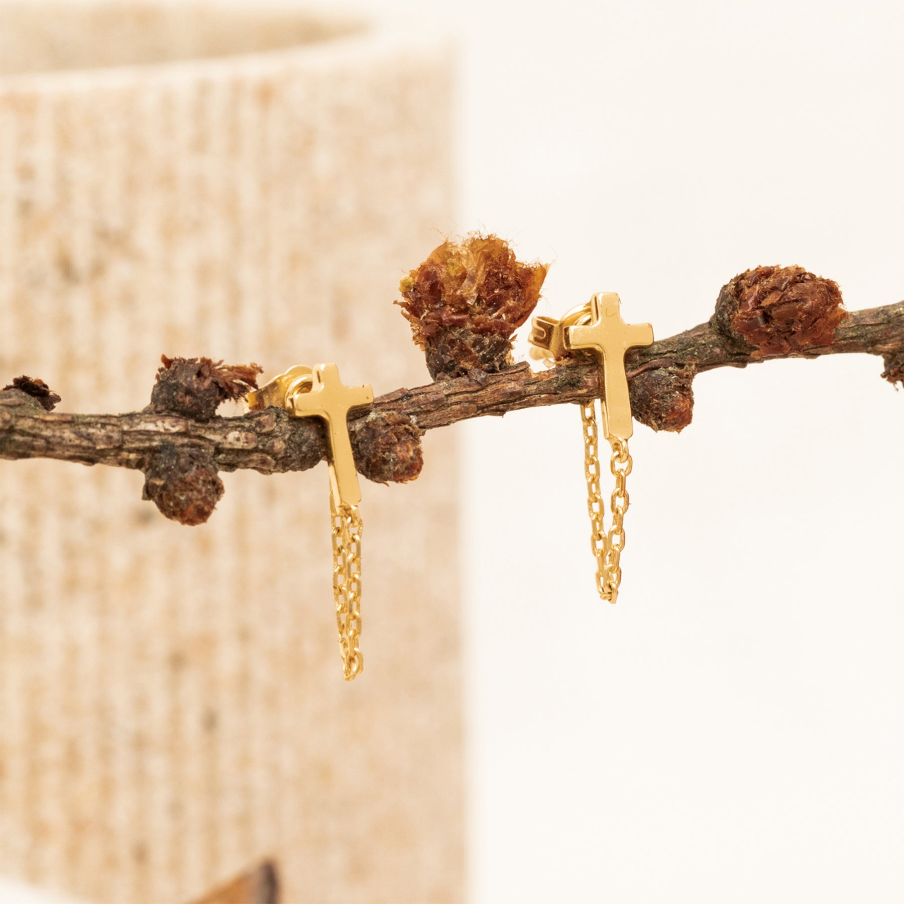 Boucle D'Oreille Darie Or.