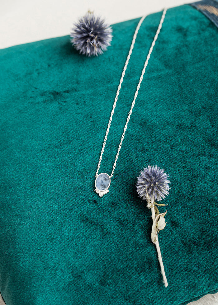 Collier Sophie Sodalite Argent.