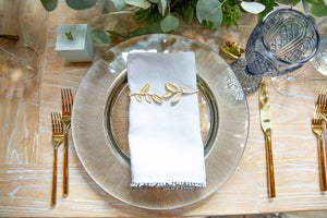 Gold Leaf Napkin Wrap, set of 4