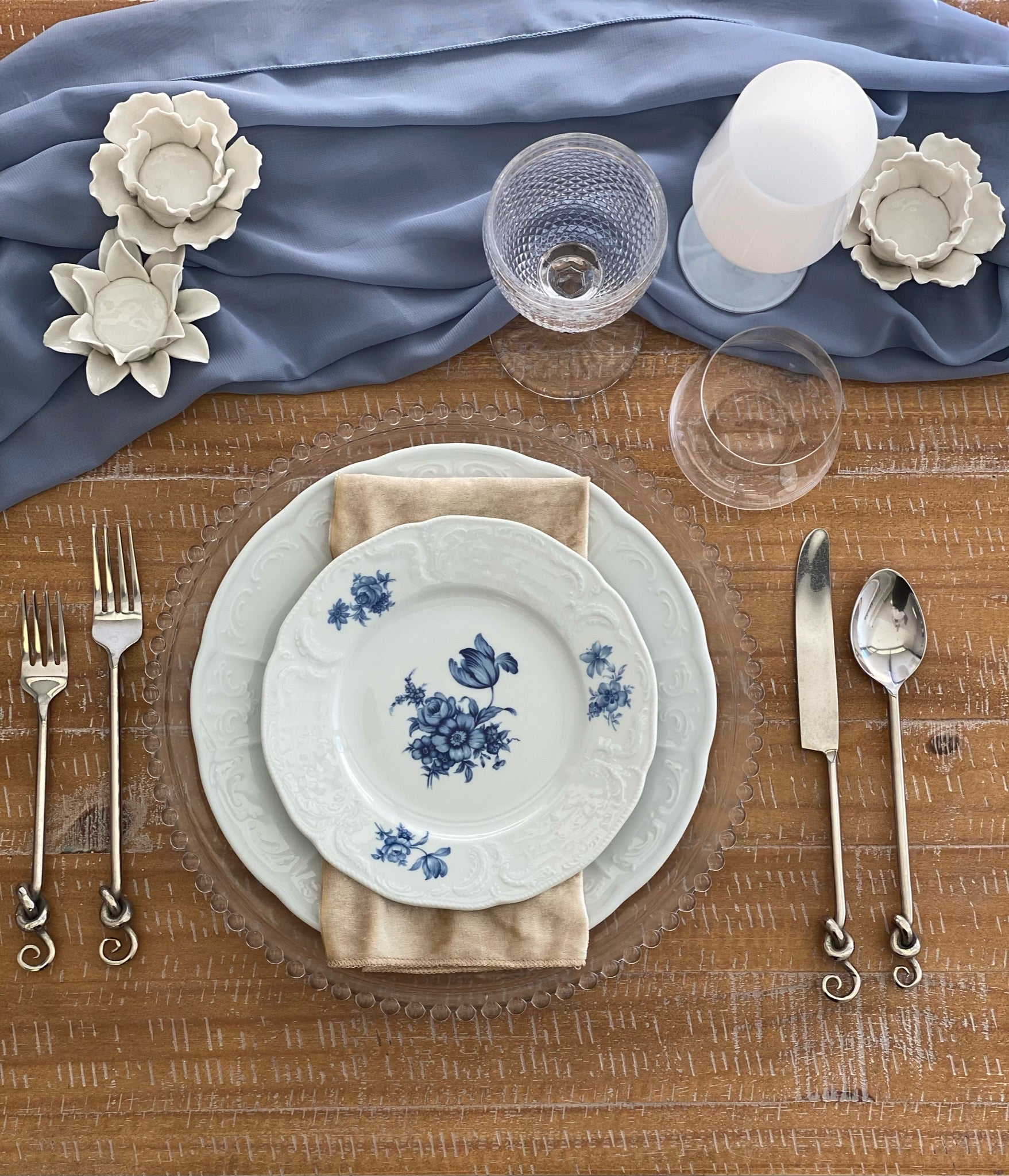 Silver Knotted Flatware