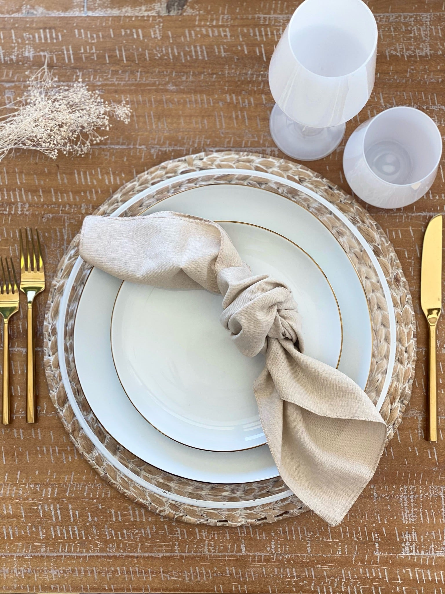 White Washed Hyacinth Placemat