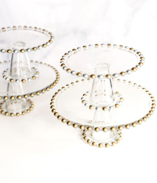 Beaded Glass Cake Stands