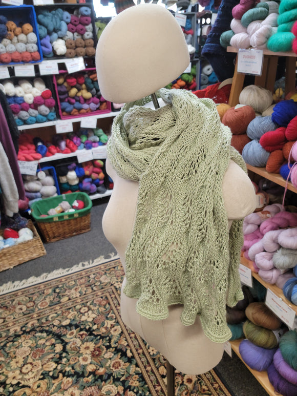 Mint Green Wrap-Nancy's Alterations and Yarn Shop