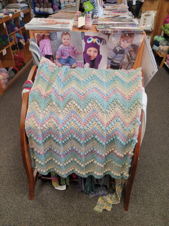 Crochet Hugs & Kisses Baby Blanket-Nancy's Alterations and Yarn Shop