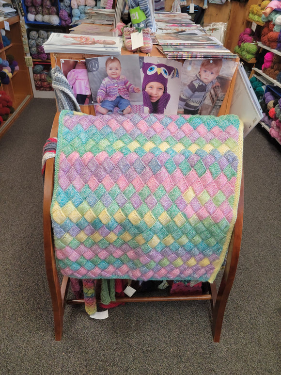 Entralac Baby Blanket-Nancy's Alterations and Yarn Shop