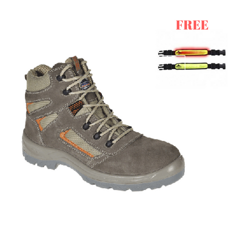 Portwest PROMO1 Compositelite Reno Mid Cut Boot S1P + FREE Illuminated Flashing Armband