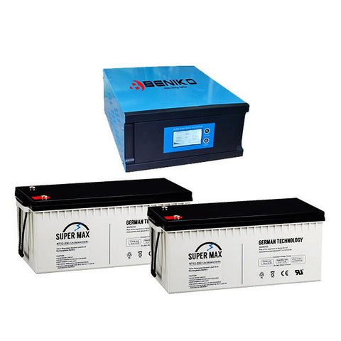 Beniko IC004 Ruby Package - Beniko 0.7KVA 12V Inverter + 1 Inverter Battery Combo