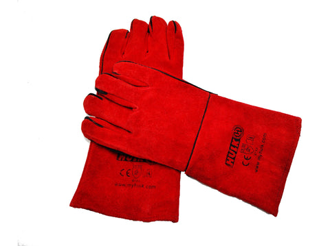 Hulk HK6632 HULK WELDING GLOVES RED
