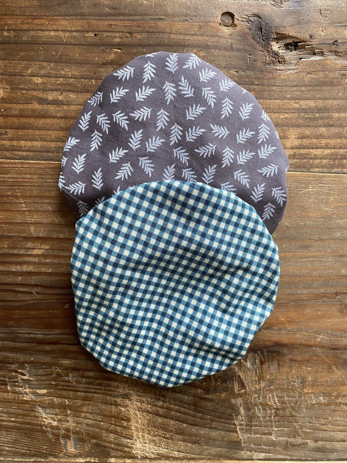 Zero waste fabric bowl covers