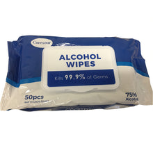 Load image into Gallery viewer, 75% ALCOHOL 50 WIPES (NEW)2500 PACK 1 PALLET 40x48x70''