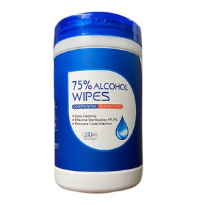 75% Alcohol Wipes 1 Case / 24 Tubs