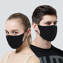 Load image into Gallery viewer, Black Cotton Mask 2 Layer