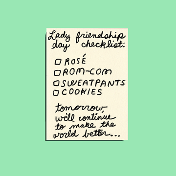 Lady Friendship Day Card