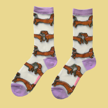 Dachshund Sheer Socks