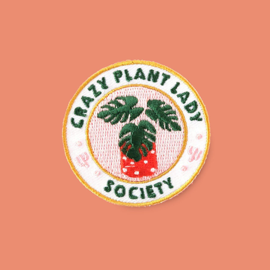 Crazy Plant Lady Society Iron-on Patch
