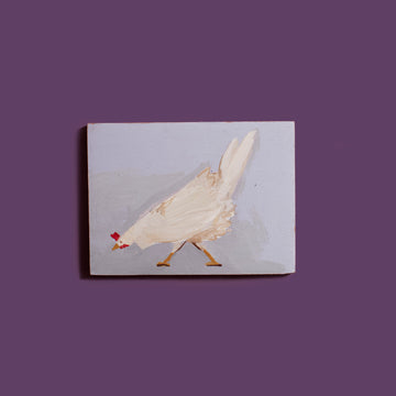 White Chicken Painting