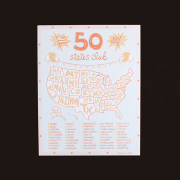 USA Fifty States Club Print