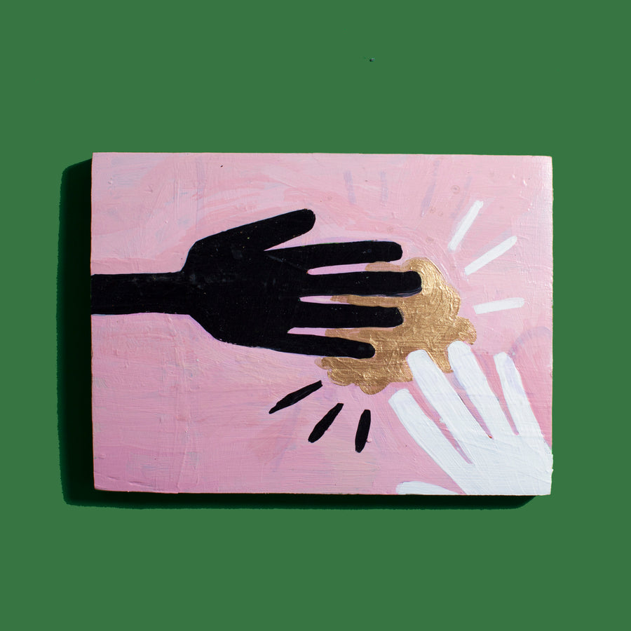Two Hands Painting (Pink)