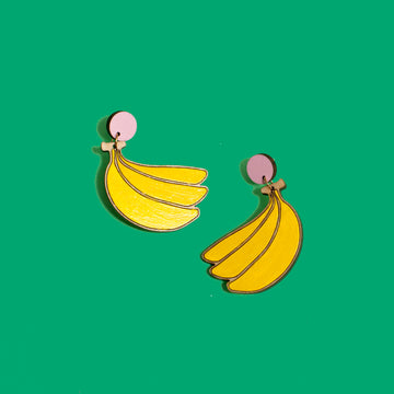 Banana Stud Dangles