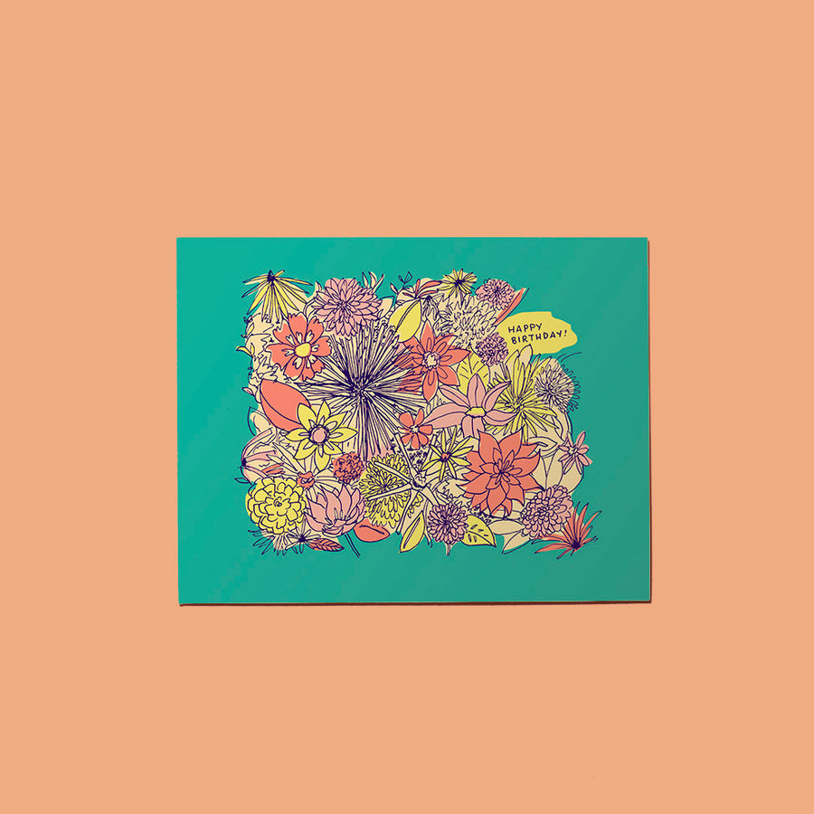 Birthday Flower Garden Card