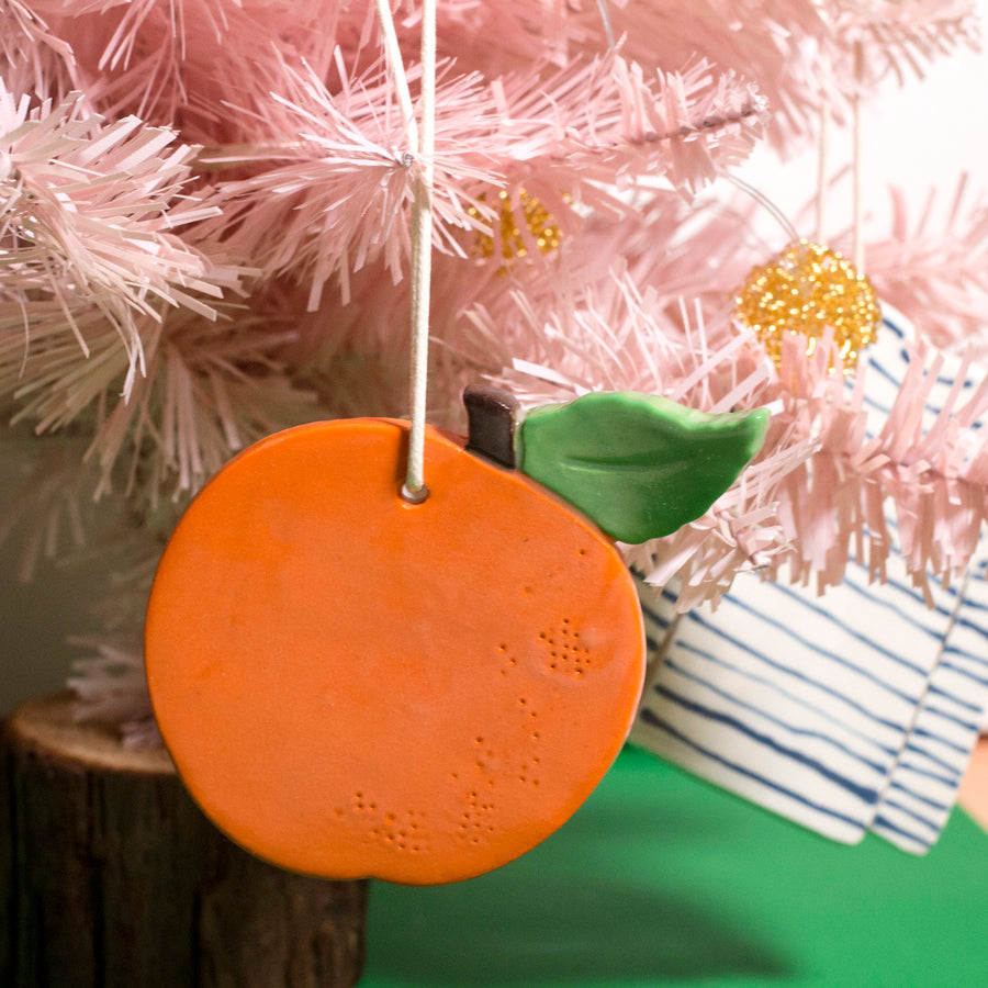 Orange Ceramic Ornament
