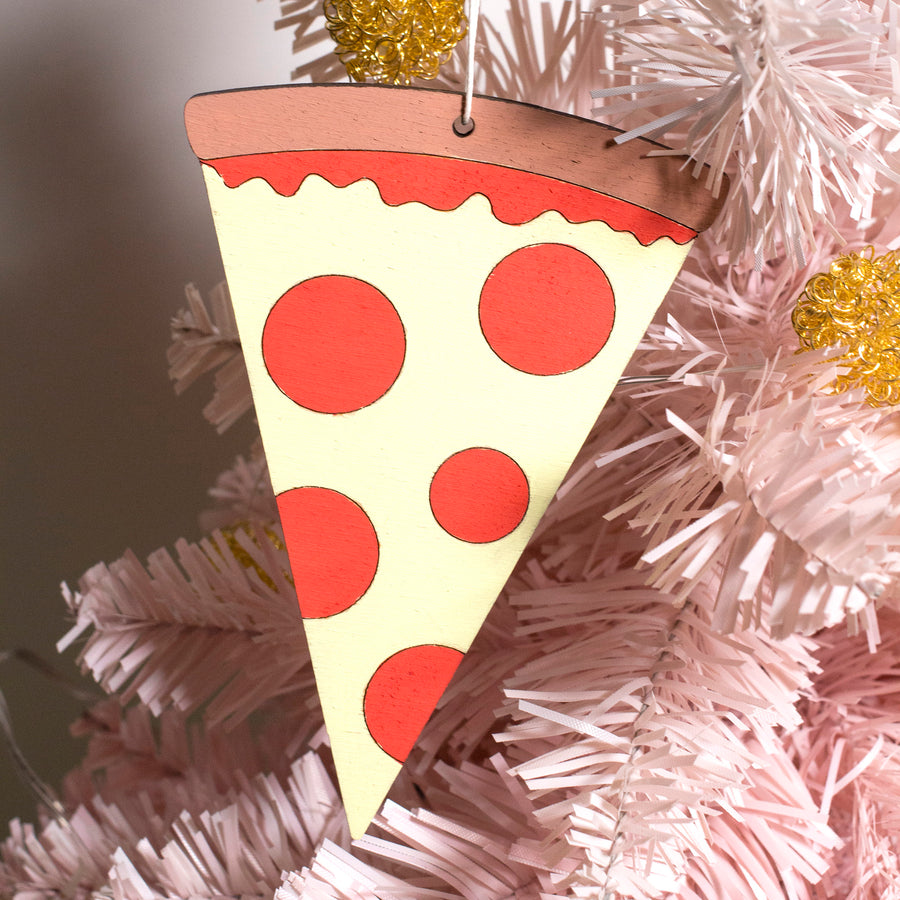 Pizza Wood Ornament