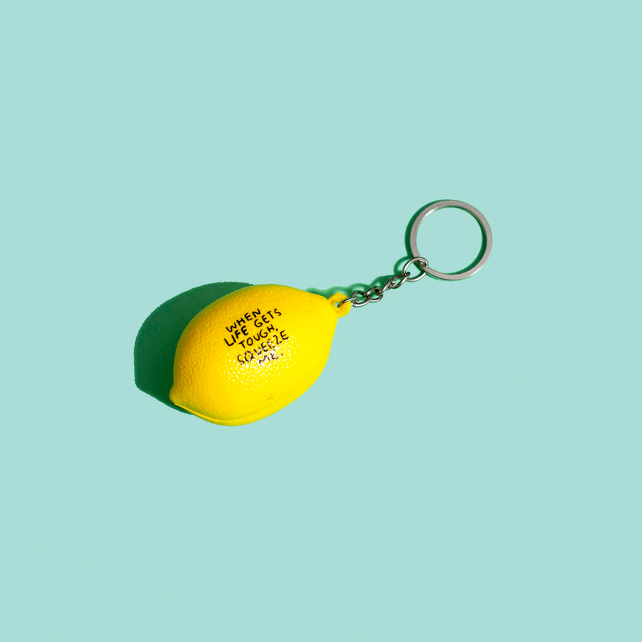 Lemon Stress Ball Keychain