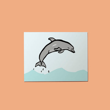 Jumping Dolphin Card