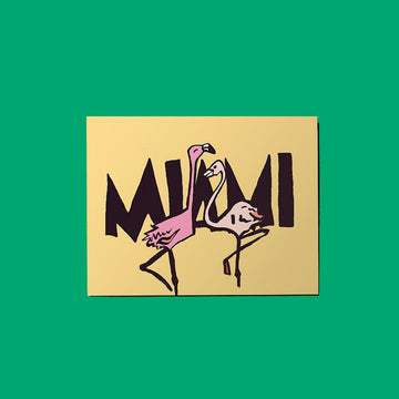 Miami Flamingos Card