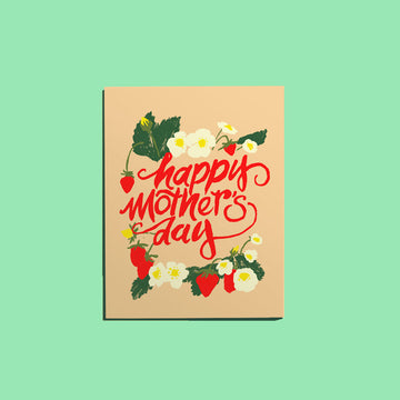 Mother's Day & Strawberries Card