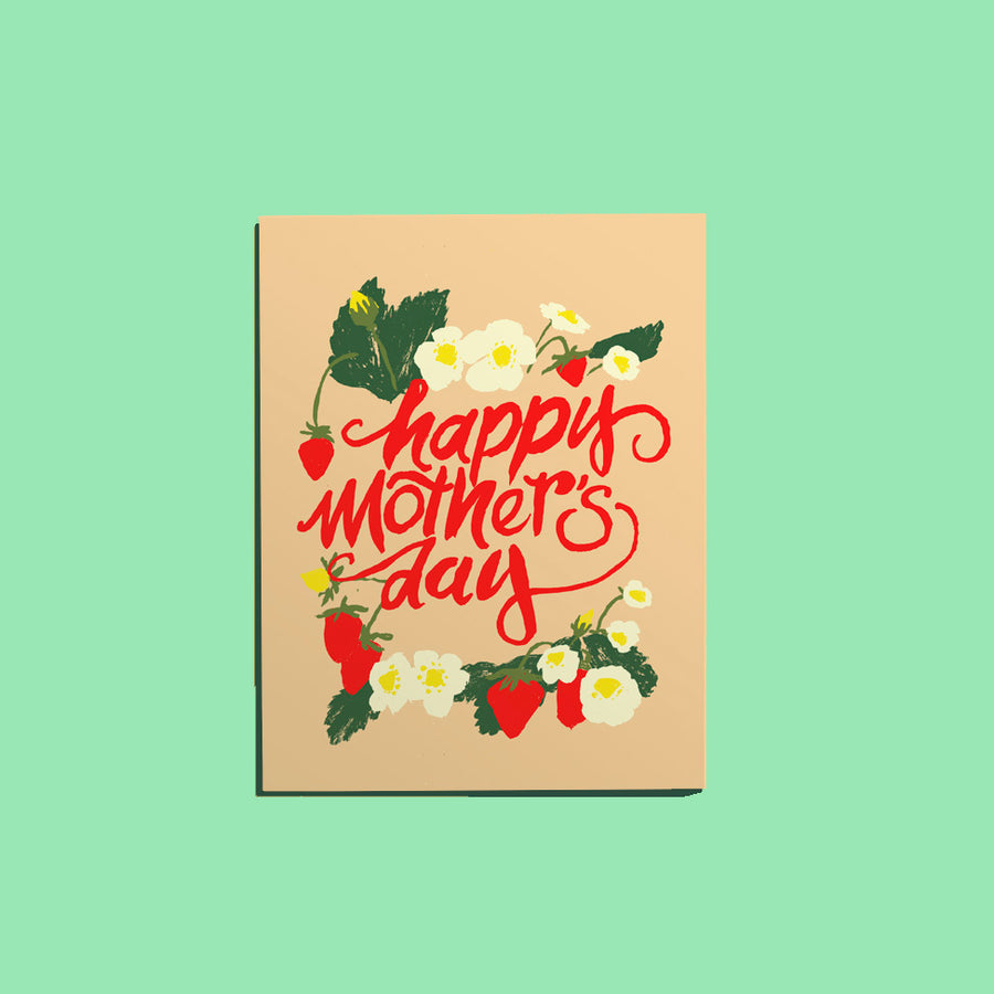 Mother's Day w/Strawberries Card