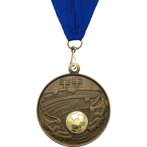 50mm Stadium Football Medal