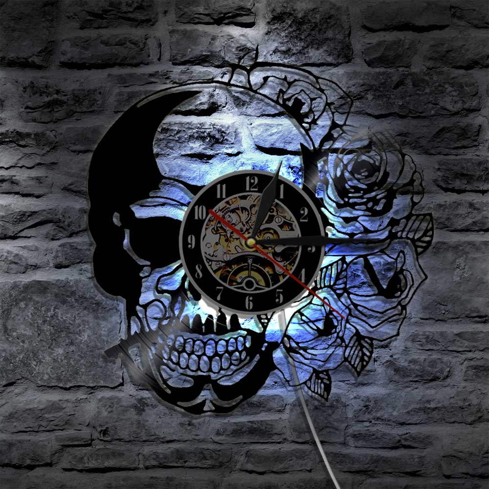 The Halloween  Skull Clock ( Limited Edition )