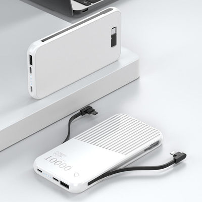 Raxfly® Power Bank with Inbuilt Cable