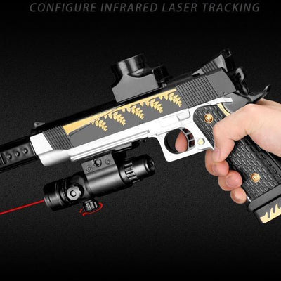 water gun with red dot laser