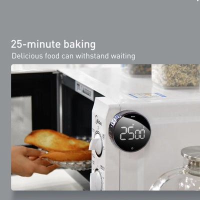 using the digital timer in kitchen