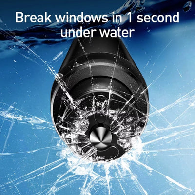 breaking windows under water