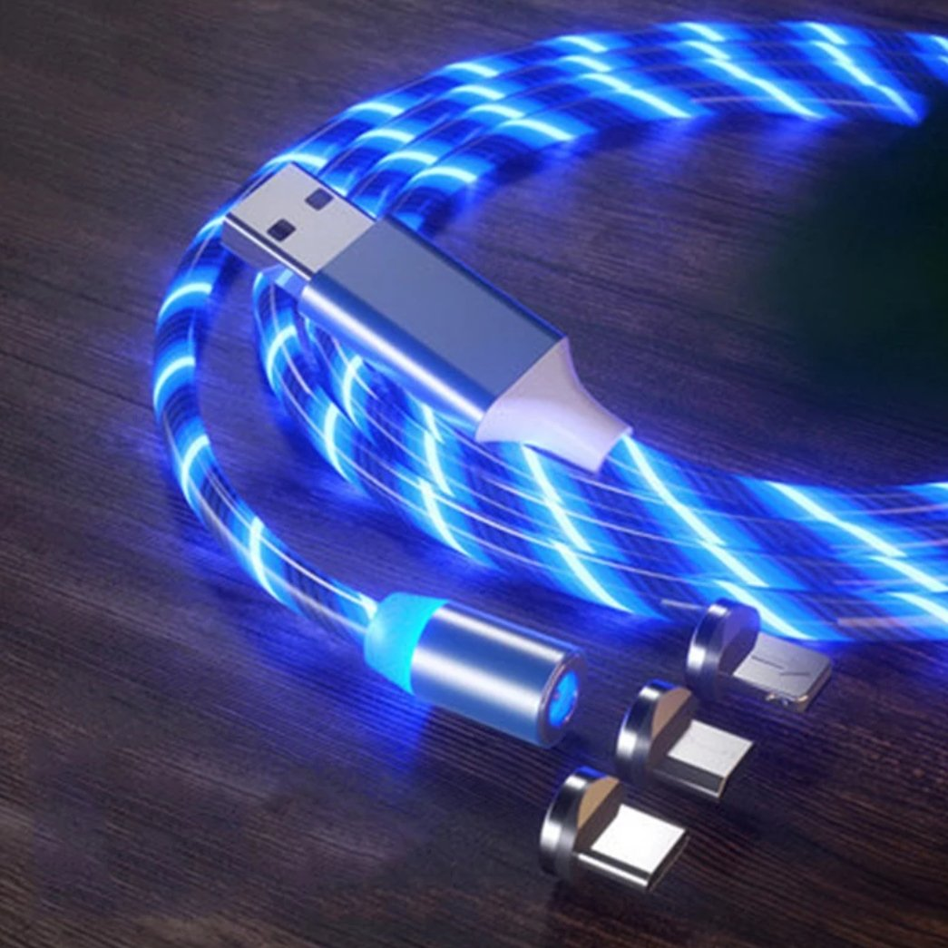 glowing USB cable