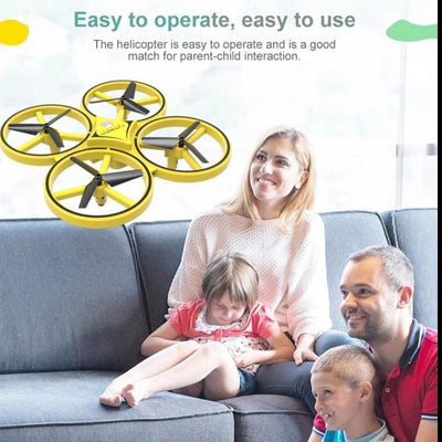 whole family enjoying the drone for kids