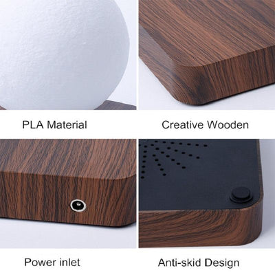 features of the levitating moon lamp